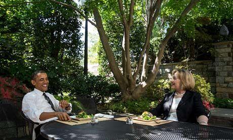 Obama Hillary Clinton lunch