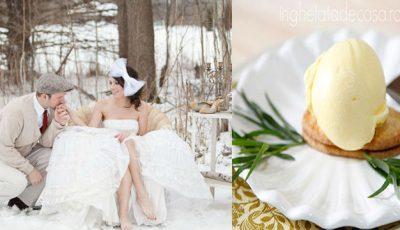 Îngheţata cu tarhon-vedetă la nunțile de iarnă 2014-2015!