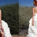 Cea mai frumoasă rochie de mireasă din hârtie igienică