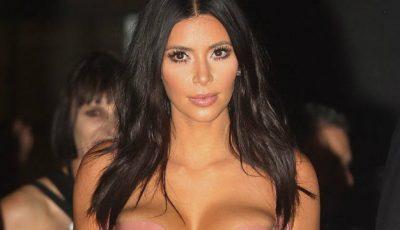 Kim Kardashian, într-o rochie invizibilă la distanță!