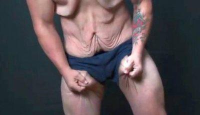Video! Îi atârnă peste tot pielea după ce a slăbit 72 kg în timp record!