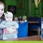 Foto: Cea mai mică Crăciuniţă! Poze cu fiica Corneliei şi a lui Marcel Ştefăneţ