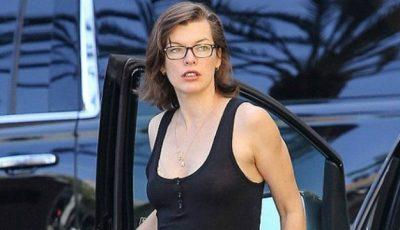 Milla Jovovich și-a arătat burtica de gravidă!