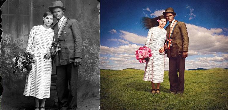 Foto: Fotografii vechi realizate de un român, reinventate de un străin!