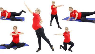 Exerciții pentru fese și sâni fermi în timpul sarcinii!