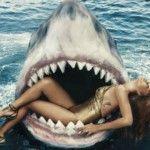 Foto: Rihanna a înotat cu rechinii. Ce nu faci pentru modă