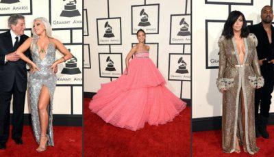 Ținutele care au furat privirile fotografilor la Premiile Grammy 2015!