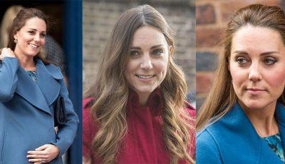 Kate Middleton nu şi-a colorat părul de când este însărcinată, chiar dacă i se văd firele cărunte
