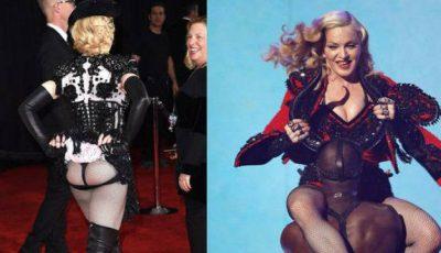 Madonna și-a arătat fundul la Premiile Grammy
