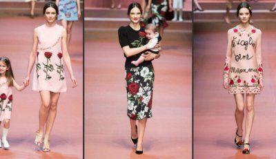 Cu pici în brațe și burtici de gravide! Așa au defilat modelele Dolce & Gabbana
