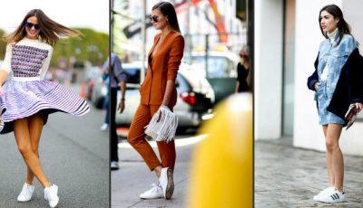 11 combinații pentru pantofii sport albi!