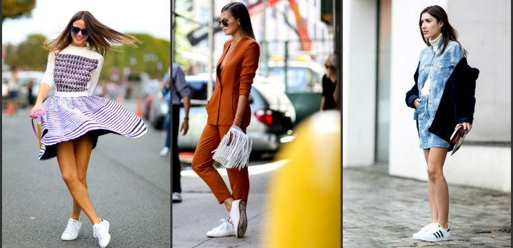 Foto: 11 combinații pentru pantofii sport albi!