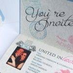 Invitație de nuntă pașaport 1