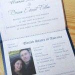 Invitație de nuntă pașaport 2