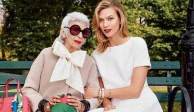 Model de 93 de ani, imaginea unui brand celebru!