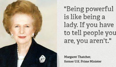 Sfaturi pentru femei de la Margaret Thatcher