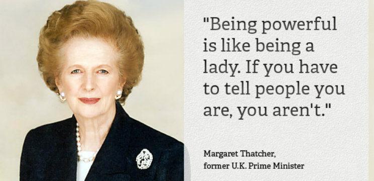 Foto: Sfaturi pentru femei de la Margaret Thatcher