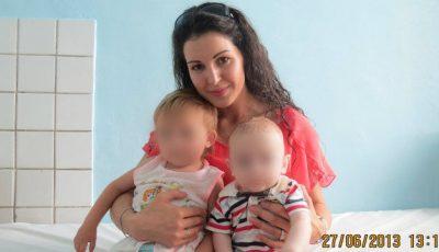 Aura Revenco: Erau chiar ei cei doi copii abandonaţi de mama şi în vara 2013…