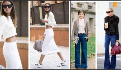 Ținute all white și pantaloni evazați – tendințele sezonului cald!