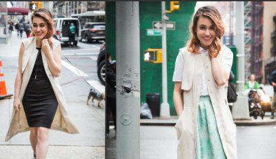 Cum să porți o rochie cu nasturi!