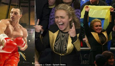 Cum l-a susţinut Hayden Panettiere pe Vladimir Kliciko pe ringul de box