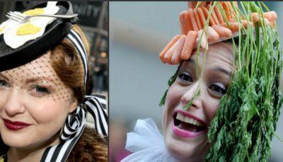 Pălării în formă de tigăi, case și ouă pe străzile New York-ului