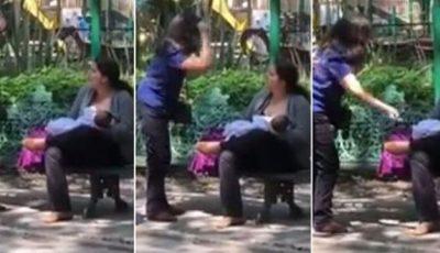"""O mamă care îşi alăptează copilul, în parc, a fost agresată de doi trecători: """"Nu-ţi este ruşine"""""""