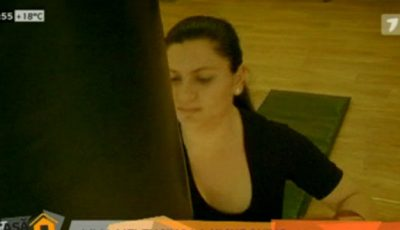 Lilia Melenciuc la kickboxing!