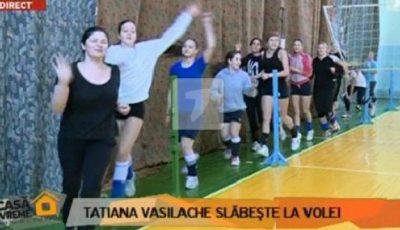 Tatiana Vasilache slăbeşte jucând volei!