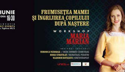 Maria Marian organizează un eveniment pentru mămici cu pici