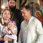 Foto: Aurel Chirtoacă şi-a botezat fiica