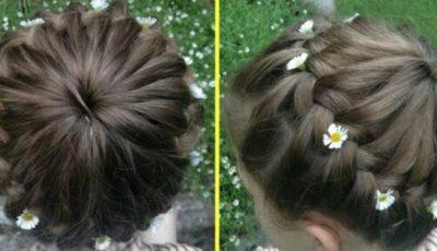 Cum să-i faci fetiţei tale o împletitură de vară ,,starburst braid''. Video