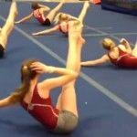 Foto: Exerciții pentru abdomen de la gimnaste!
