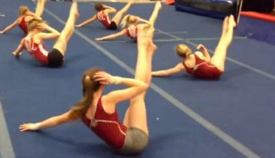 Exerciții pentru abdomen de la gimnaste!