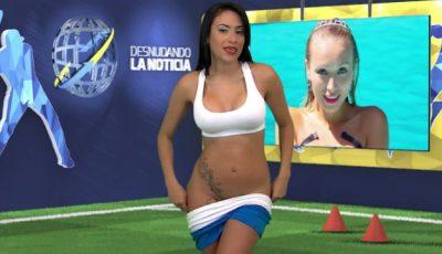 O prezentatoare s-a dezbrăcat în direct pentru Cristiano Ronaldo!