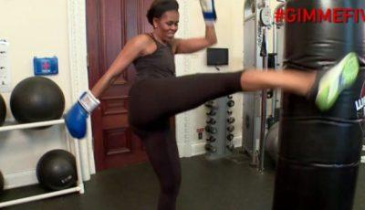 Michelle Obama la antrenamente! Video