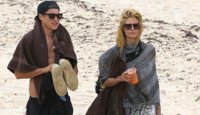 Sex pe plajă: Heidi Klum se distrează cu iubitul său cu 14 ani mai mic!