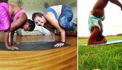 Au vrut să fie admirate în poziţii yoga chiar dacă sunt supraponderale!