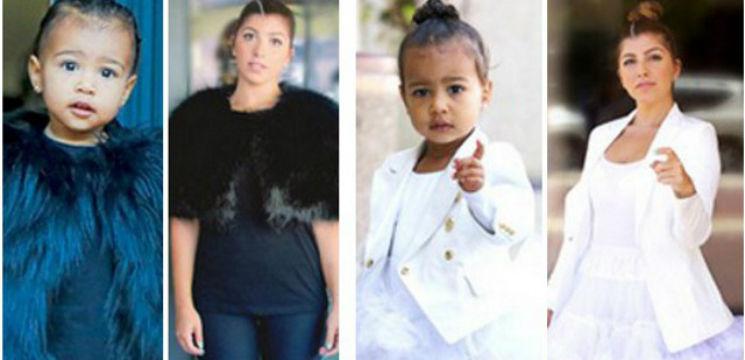 Foto: O femeie s-a îmbrăcat timp de o săptămână ca fiica vedetei Kim Kardashian. Ce a ieșit!