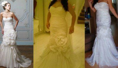 Ferește-te de rochiile de mireasă comandate on-line