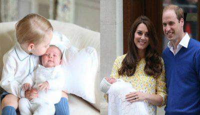 Primele poze cu Prinţesa Charlotte şi frăţiorul ei, Prinţul George!
