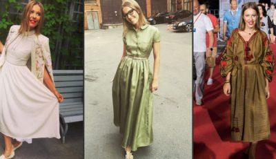 Xenia Sobceak a dat-o pe rochii de bătrânică!