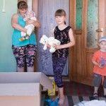 Foto: Mamele cu mulți copii în dificultate susţinute de Medpark