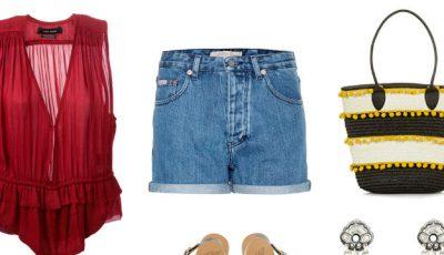Trei idei de asortare a pantalonilor scurți cu talie înaltă!
