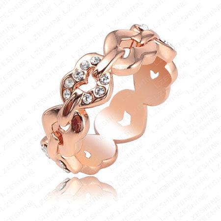 verighete-aur-roz-cu-inimioare-si-diamante