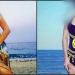 Foto: Două vedete, în costume de baie identice!