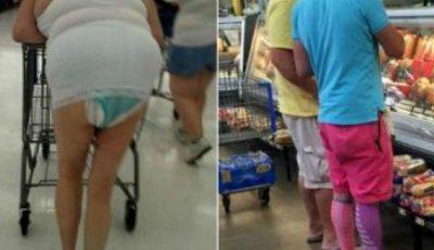 Cât de caraghios se îmbracă americanii la cumpărături!