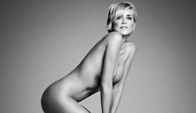 Sharon Stone a pozat nud. Photoshop vs. realitate!