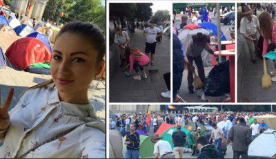 Miss ULIM, fotografiată cum mătură în centrul Capitalei!
