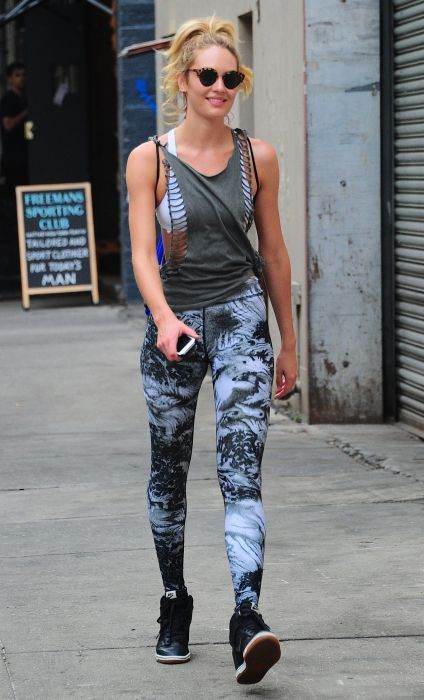 Candice Swanepoel with boyfriend out in New York
